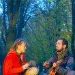 Love couple of young musicians — Stock Photo #10031439