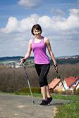 Nordic walking — Zdjęcie stockowe
