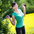 Nordic walking — Stock Photo #10555471