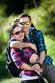 Wandern-paar — Stockfoto