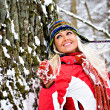 Winter portrait of a woman — Stock Photo