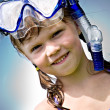 Snorkeling girl - Stock Photo