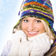 Winter portrait of a woman - Stock Photo