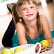 Apple girl - Lizenzfreies Foto