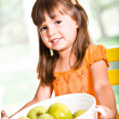Apple girl — Stock Photo