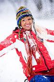 Portrait d'hiver d'une femme — Photo