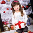 Xmas girl — Stock Photo