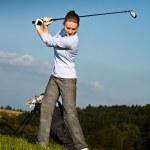 Постер, плакат: Playing golf