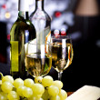 White wine and cheese — Stock Photo #8135813