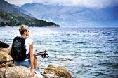 Hiking at sea — Stock Photo