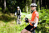 Cycling woman — Foto Stock