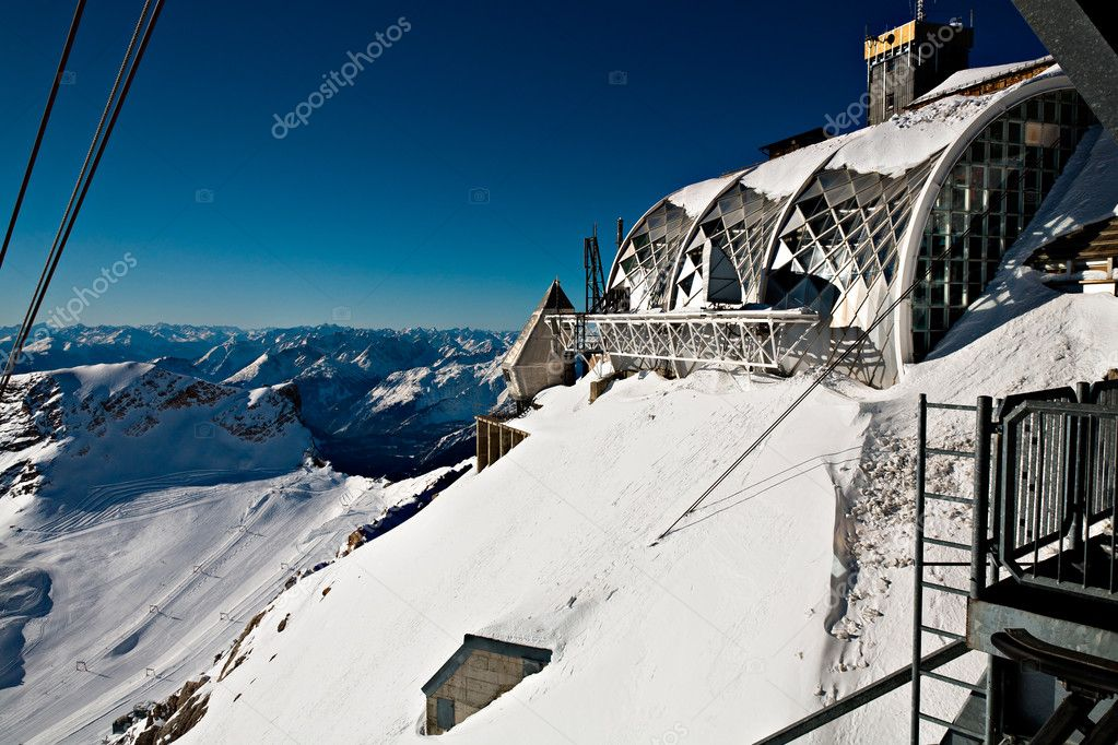 Zugspitze, a peak in the Alps Germany,  Europe — Stock Photo #8270829