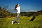 Spela golf — Stockfoto