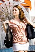 Shopping in the city — Stock Photo