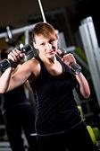 Menina do ginásio — Fotografia Stock