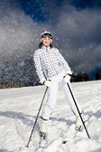 Skida alpin — Stockfoto