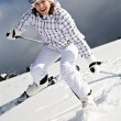 Stock Photo: Ski alpin