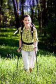 Caminhadas na natureza selvagem — Foto Stock