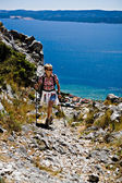 Hiking in Adriatic — Stockfoto