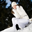 Stock Photo: Winter portrait of a woman