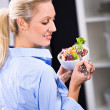 Woman with salad — Stock Photo #8728404
