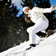 Winter portrait of a woman - Stockfoto