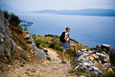 Hiking to the peak — Stock Photo