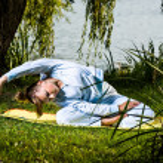 Yoga exercise — Stock Photo #8936968
