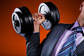 Fitness and business — Stock Photo