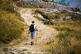 Tepeye kadar yürüyüş — Stok fotoğraf