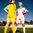Soccer girls — Stock Photo #9252368