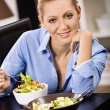 Woman with salad — Stock Photo #9362556