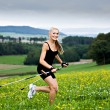 Nordic walking — Stock Photo #9766966
