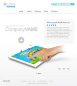 Vector website design layout for corporate and business — Wektor stockowy