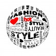 Royalty-Free Stock Vector Image: Fashion Globe with different association terms