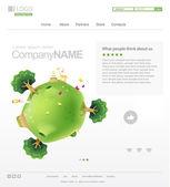 Website Design Template — Stock Vector