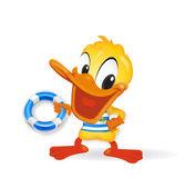 Duck - Sailor — Stock Photo