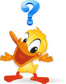 Duck - question — Stock Photo
