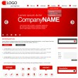 Vector website design layout for corporate and business — Stock Vector