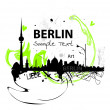 Art skyline of Berlin — Stock Vector