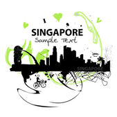 Vector abstract illustration of Singapore — Stock Vector
