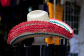 Hats in a market — Stock Photo