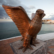 Stock Photo: Big bronze eagle