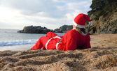 Santa's helper on vacation — Stock Photo