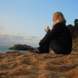 Contemplating at the beach — Stock Photo #8384299