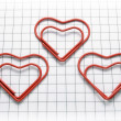 Heart shaped paper clips — Stock Photo
