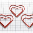 Stock Photo: Heart shaped paper clips