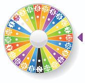 Wheel of fortune — Stock Vector