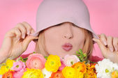 Pink kiss — Stock Photo