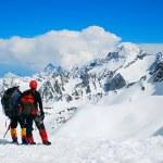 Two climbers on the Himalayan mountain — Stock Photo